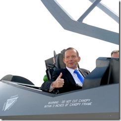 tony in an aeroplane